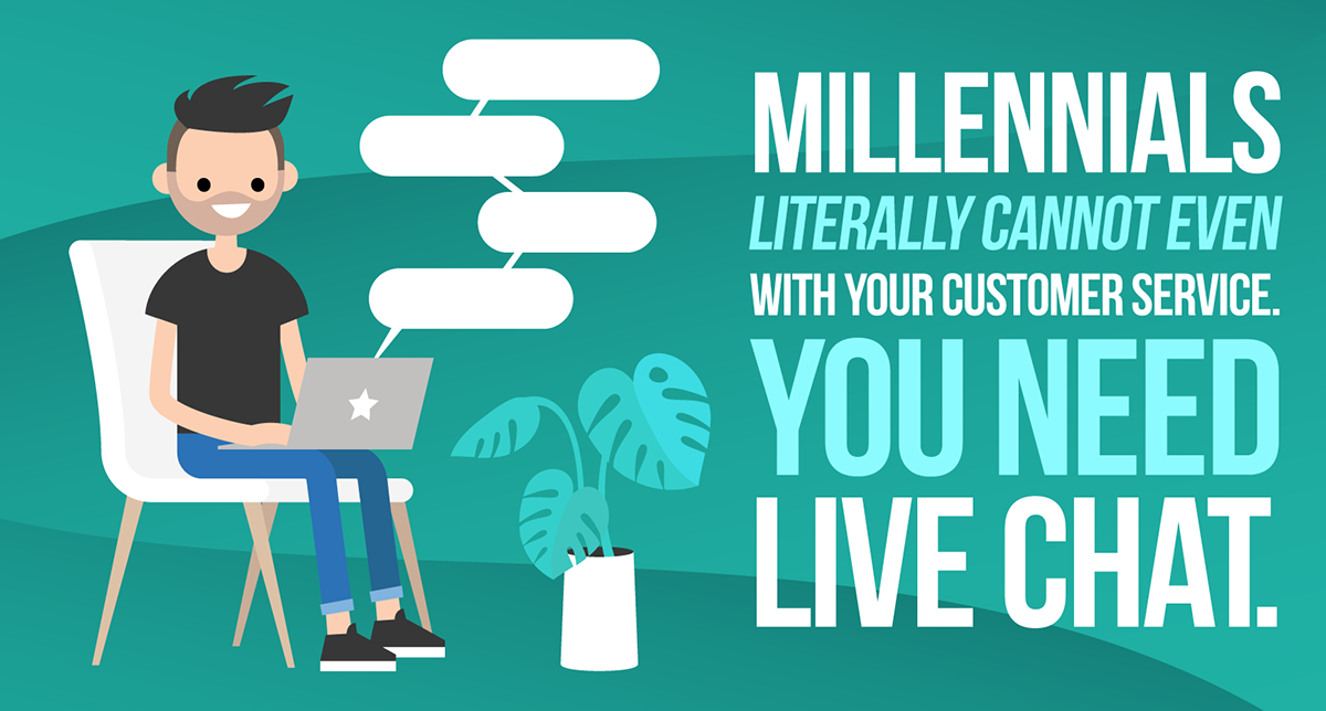 Millennials Literally Cannot Even With Your Customer Service. You Need Live Chat.