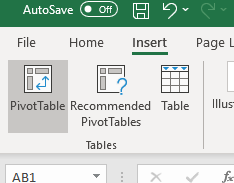 Create a PivotTable