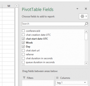 Select the fields for your table to display