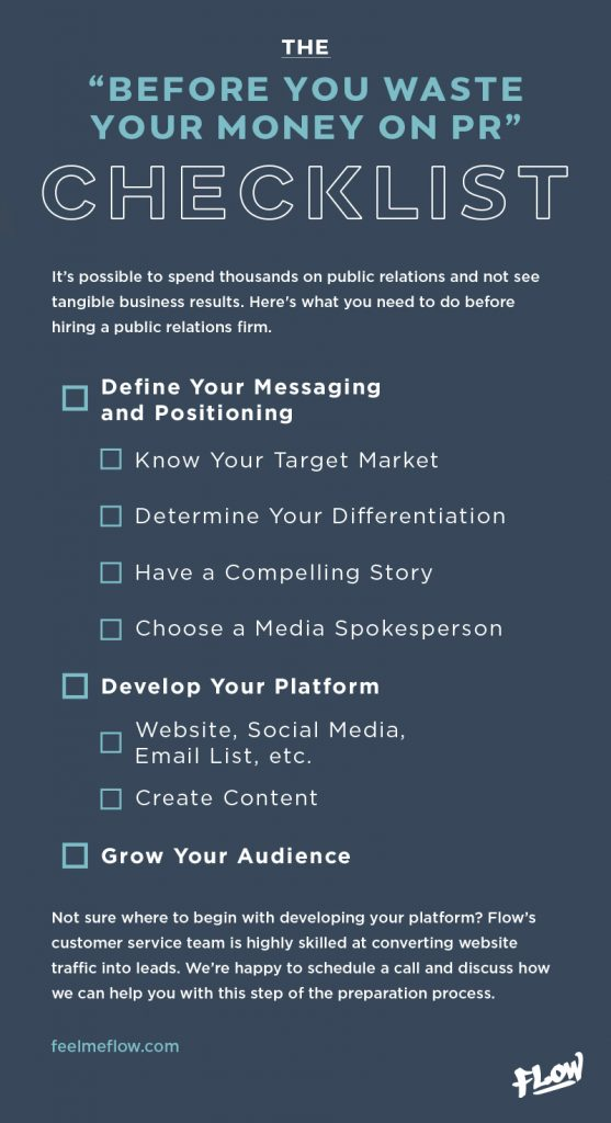 The Before You Waste Your Money on PR Checklist